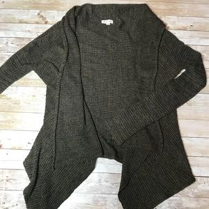 Silence + Noise UO Open Front Waterfall Cardigan S